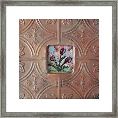 Old World Tulips Framed Print by Krista Ouellette