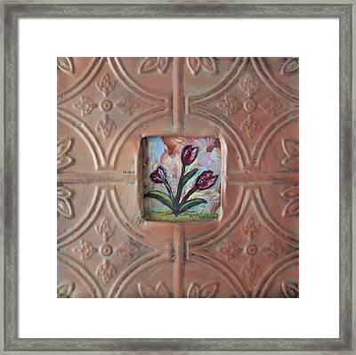 Old World Tulips Framed Print