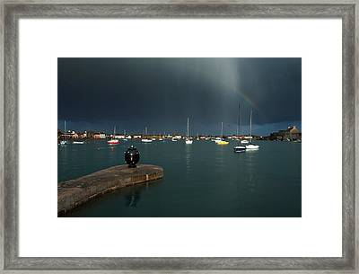 Old World War Two Mine And Rainbow, The Framed Print by Panoramic Images