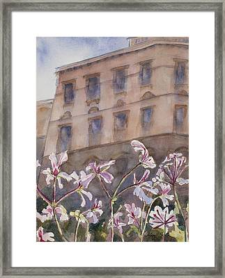 Old World Windowbox Framed Print by Mary Benke