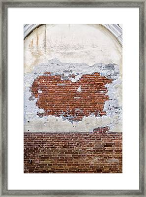 Old Worn Out Wall In Venice Framed Print by Francesco Rizzato