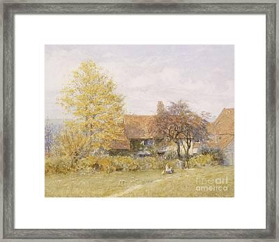 Old Wyldes Farm Framed Print by Helen Allingham