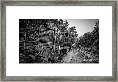 Old Yard Switcher Engine Valley Railroad Framed Print by Edward Fielding