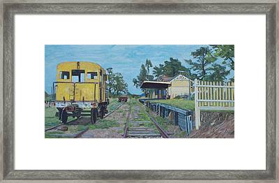 Old Yarra Glen Railway Station Framed Print by Bert Ernie