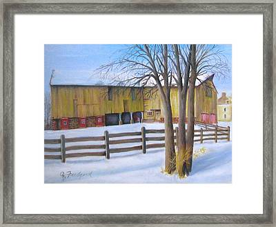 Framed Print featuring the painting Old Yella by Oz Freedgood