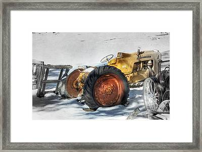 Old Yeller Framed Print by Donna Kennedy