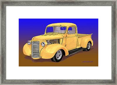 Old Yeller Pickem Up Truck Framed Print by Jack Pumphrey