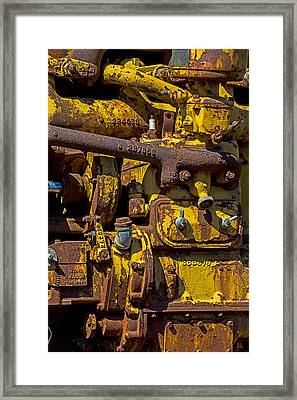 Old Yellow Motor Framed Print by Garry Gay