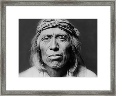 Old Zuni Man Circa 1903 Framed Print by Aged Pixel