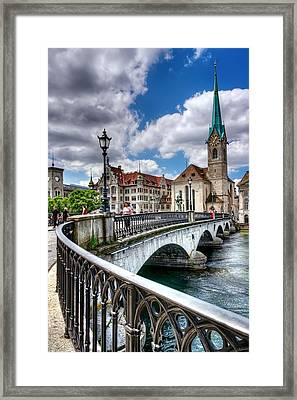Old Zurich Framed Print by Carol Japp