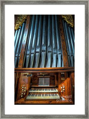 Olde Church Organ Framed Print by Adrian Evans