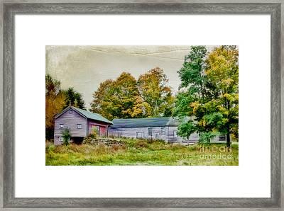 Olde Homestead On Rt 105 Framed Print by Deborah Benoit