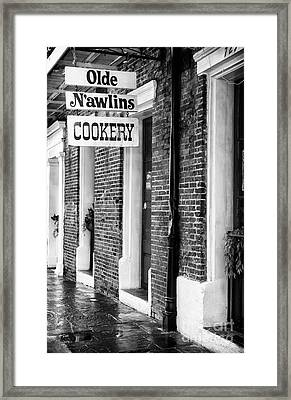 Olde N'awlins Cookery Framed Print by John Rizzuto
