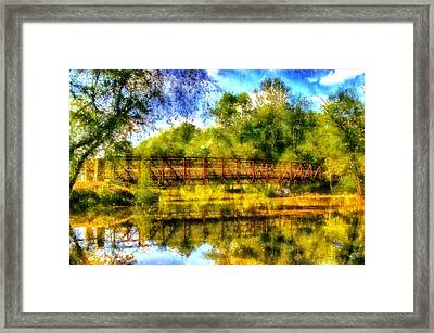 Olde Rope Mill Bridge Framed Print