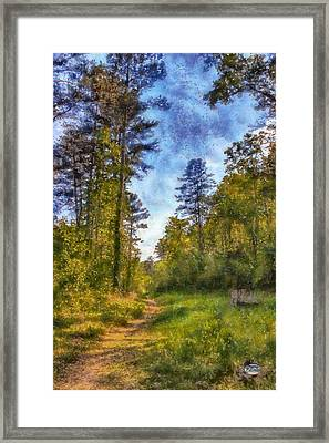 Olde Rope Mill Trail Framed Print by Daniel Eskridge