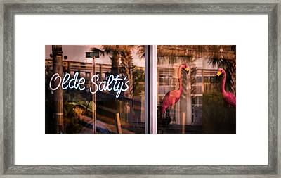 Olde Saltys Reflections Framed Print