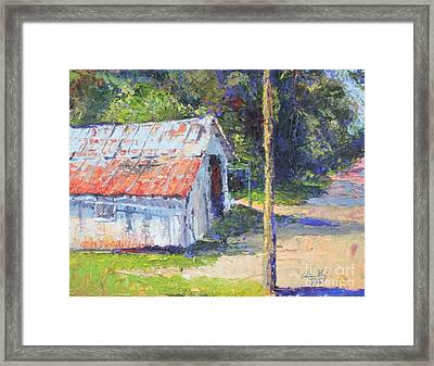 Olde Shed Framed Print by Chris Shepherd