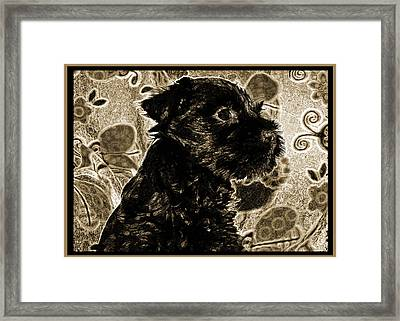 Olde World Canine Framed Print by Brian Graybill