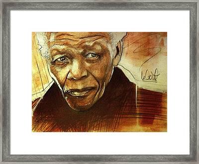 Older Nelson Mandela Framed Print