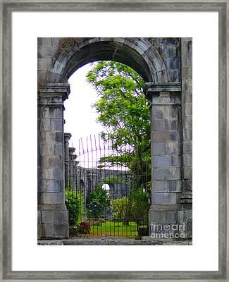 Oldest Church In Cartago - Costa Rica Framed Print by Al Bourassa