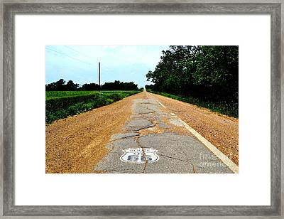 Framed Print featuring the photograph Oldest Stretch Of Route 66 by Utopia Concepts