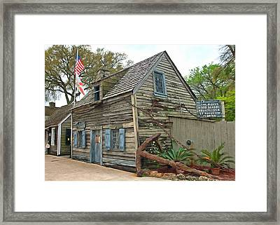 Oldest Wood School House In The Usa Framed Print