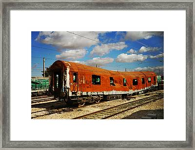 Oldie At Sidetrack Framed Print by Jenny Rainbow