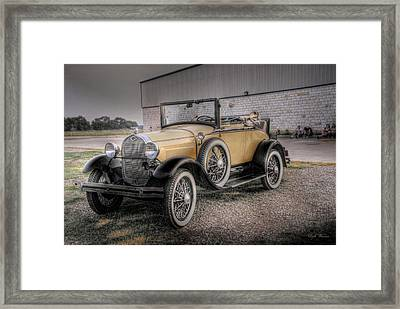 Framed Print featuring the photograph Old Ford Model A Coupe by Dyle   Warren