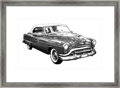 Oldsmobile 1952 Framed Print by Pablo Franchi