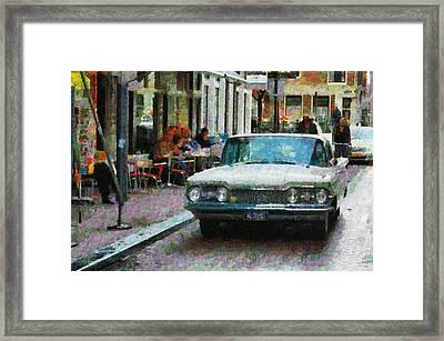 Oldsmobile In Amsterdam Framed Print