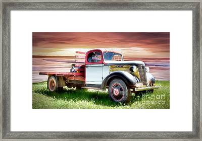 Oldsmobile Sunset Framed Print by Shannon Rogers