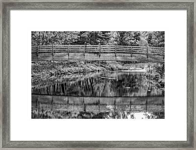 Ole Bull State Park 3 Bw Framed Print by Steve Harrington