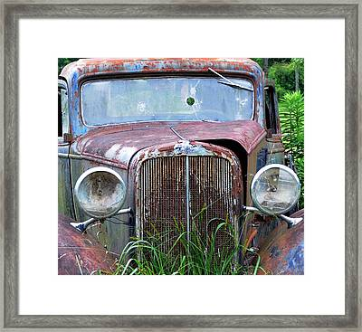 Ole Chevy Framed Print by Leon Hollins III
