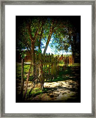 Ole Garden Gate Framed Print by Sheri McLeroy