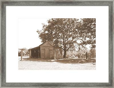 Ole Homeplace Framed Print by Angelia Hodges Clay