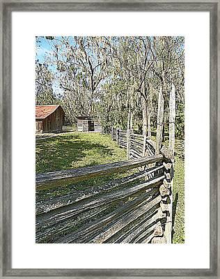 Ole Horse Barn Framed Print
