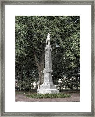 Ole Miss Confederate Statue Framed Print