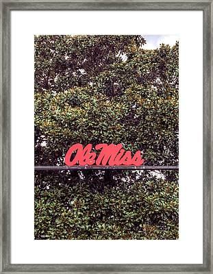 Ole Miss Framed Print by JC Findley