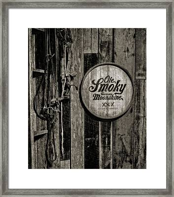 Ole Smoky Tennessee Moonshine Framed Print by Dan Sproul