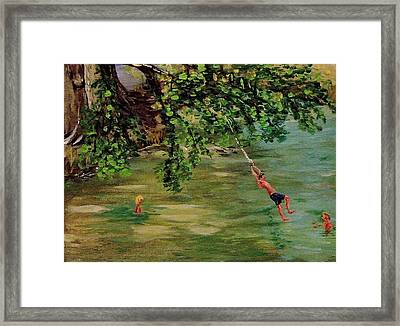 Ole' Swimming Hole Framed Print