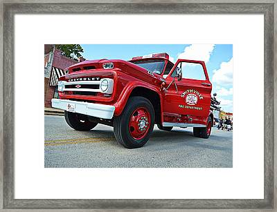Ole Time Fire Truck Framed Print by Kelly Kitchens