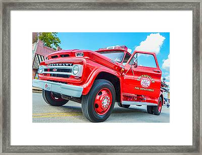 Ole Time Fire Truck Series 1 Framed Print by Kelly Kitchens