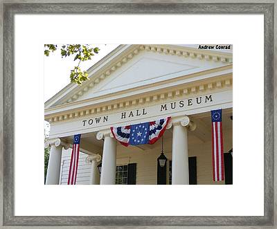 Ole Town Hall Framed Print by Andrew Conrad