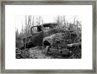 Ole Truck Of Jackfish Framed Print