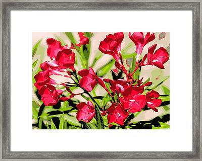 Oleander Red Framed Print by Sheri McLeroy