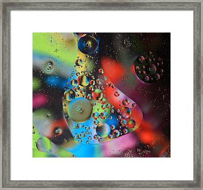 Olej I Woda 4 Framed Print by Joe Kozlowski