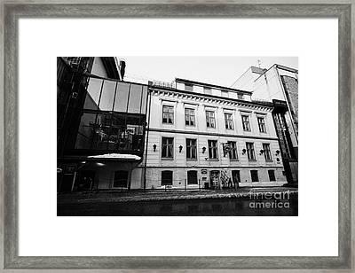 olhallen macks beer hall and Tromsos oldest pub troms Norway europe Framed Print