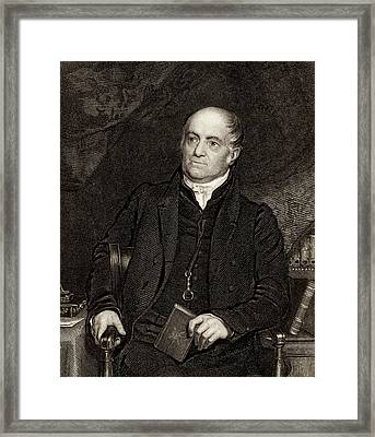 Olinthus Gregory Framed Print by Universal History Archive/uig