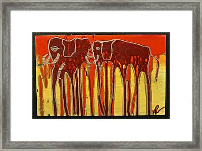 Oliphaunts Framed Print by Mario Perron