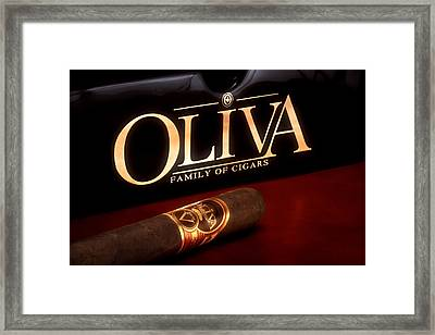 Oliva Cigar Still Life Framed Print by Tom Mc Nemar
